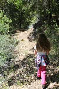 Maile on Historic Bluff Creek Trail