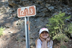Maile at the 12n13 sign